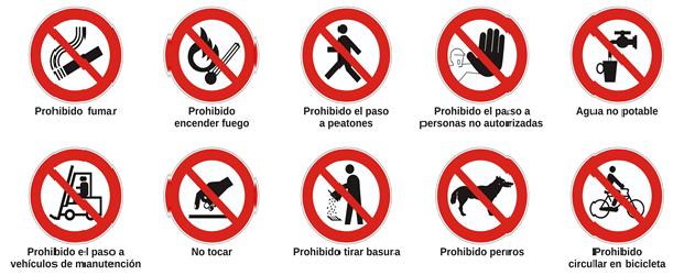 señal prohibición