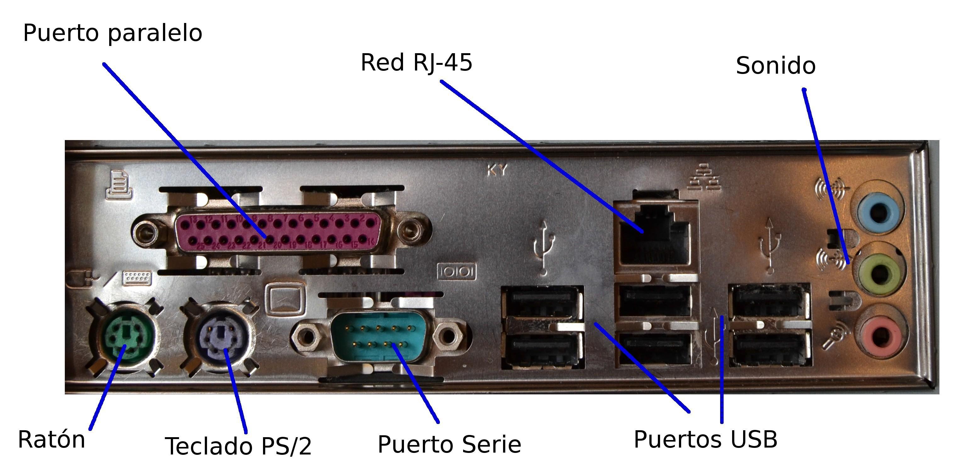 puertos placa base