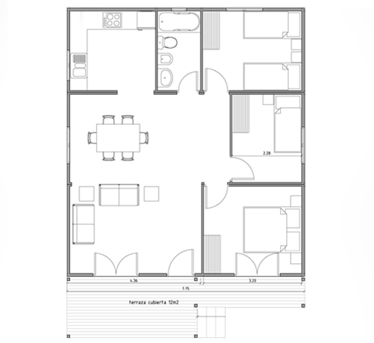 Tec2 8 2 normalizaci n soportes y formato for Planos de apartamentos pequenos de dos habitaciones