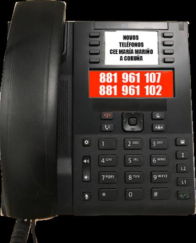 Novos teléfonos do Centro