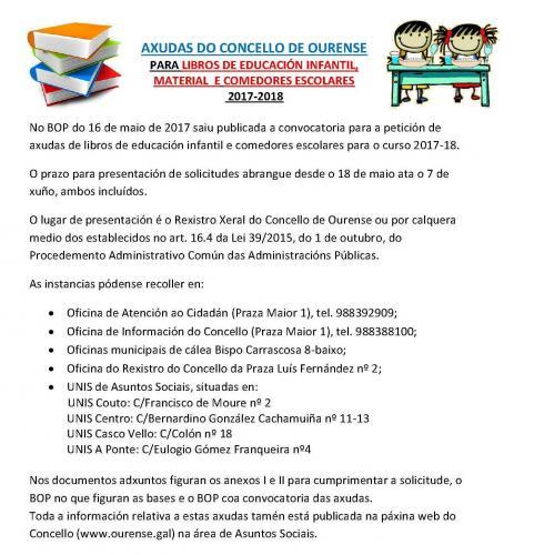 Axudas do concello de ourense ceip a ponte ourense - Comedores escolares xunta ...