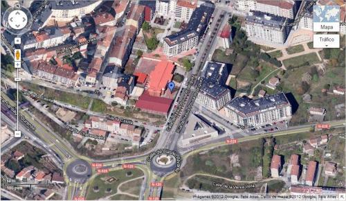 Plano de localización do CEIP A Ponte en Google