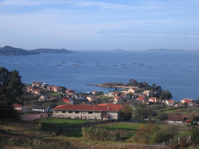 O centro e a Ría de Pontevedra