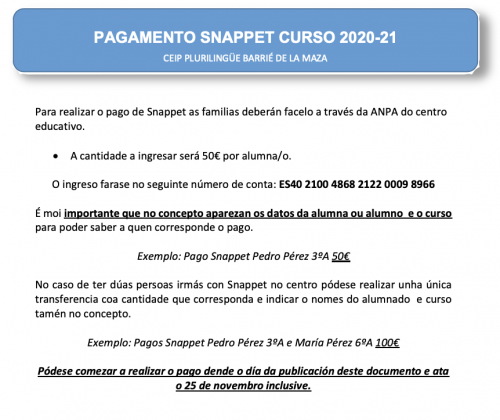 documento pagamento snappet
