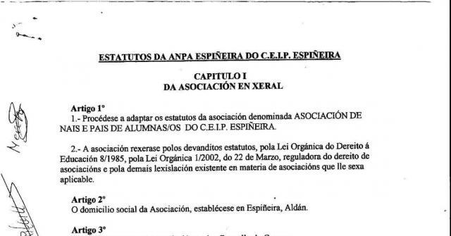 Estatutos actuais da ANPA
