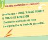 RECORDATORIO PRAZO DE ADMISIÓN