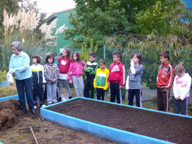 O noso primeiro día na horta escolar.