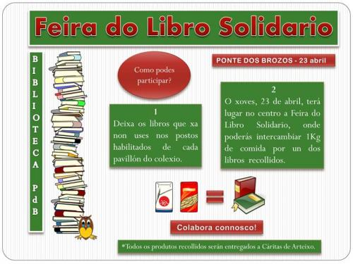 feira do libro solidario - 23 de abril
