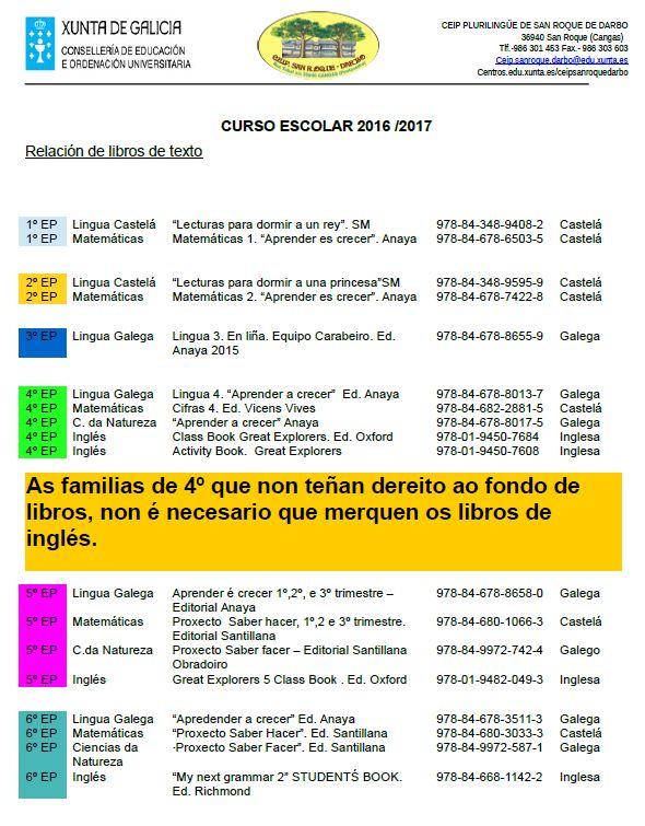 libros texto 16-17