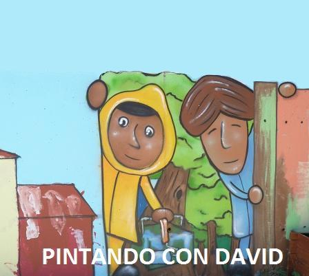 PINTANDO MURO DO PATIO CON DAVID