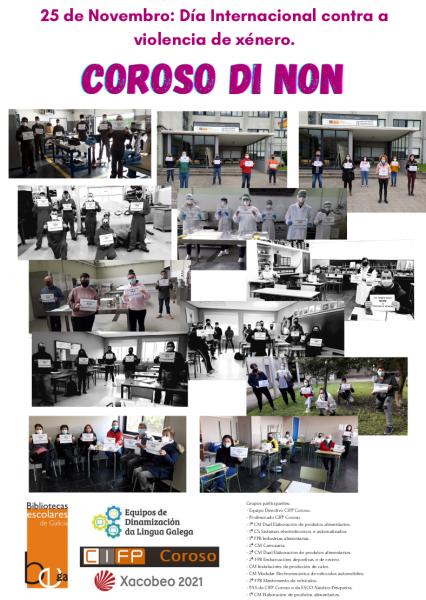 O CIFP Coroso di NON á violencia de xénero