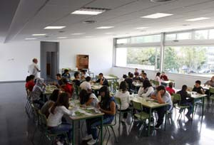 Apertura do comedor escolar do Feal
