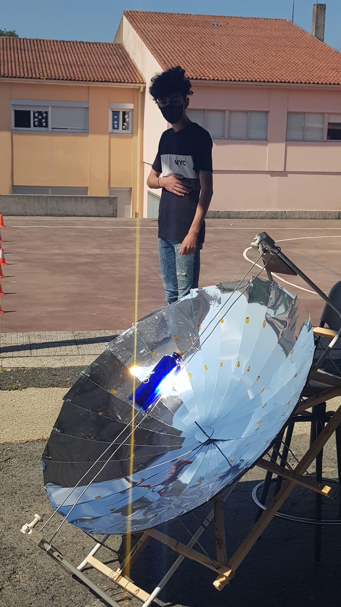 Vendo a incidencia do sol na parabólica