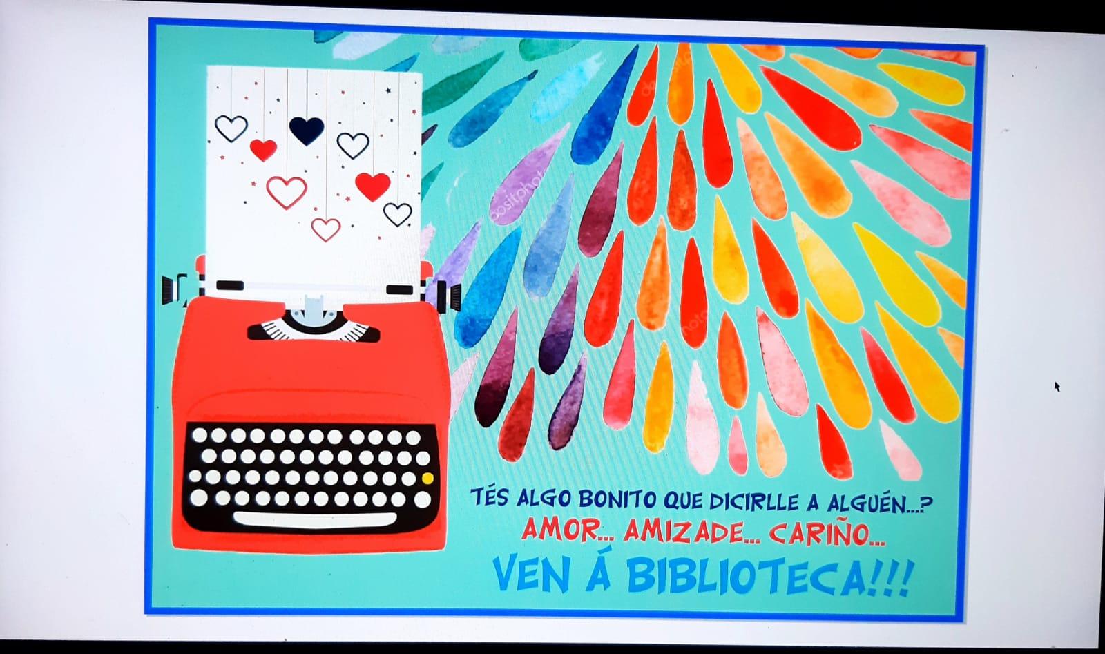 Cartel da biblioteca