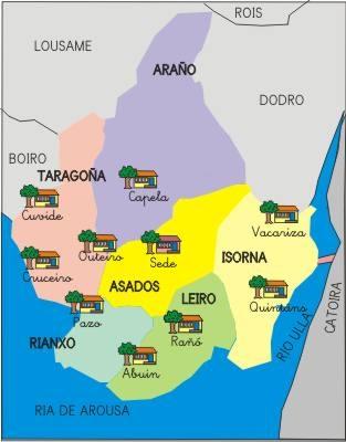 Mapa das Escolas C.R.A. de Rianxo