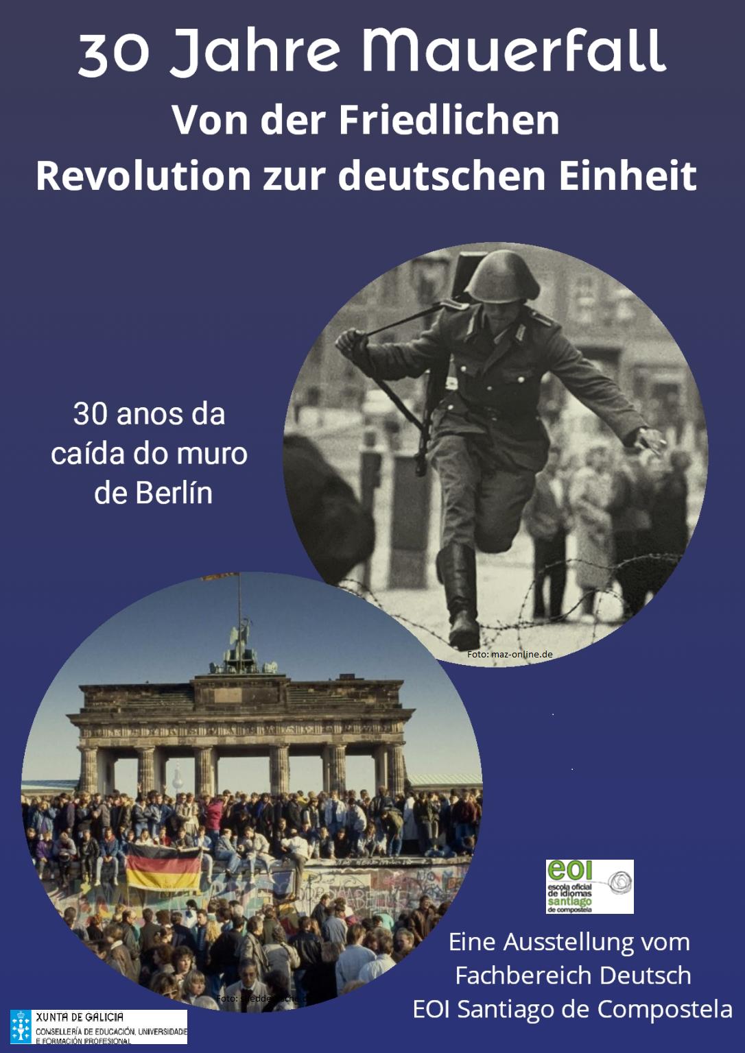 Exposición sobre a caída do Muro de Berlín