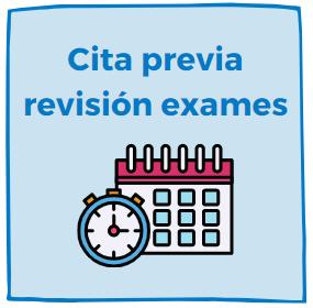 Cita previa para a revisión de exame.