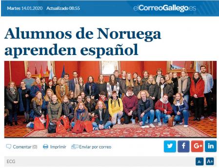 Alumnos de Noruega aprenden español