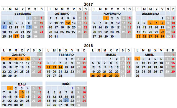 Calendario Escolar Xunta.Calendario Escolar Ies De Brion