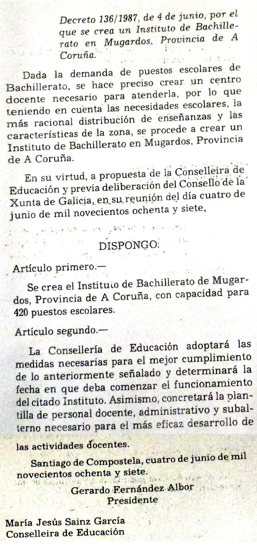Decreto 136/1987