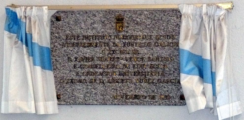 Placa da inauguración oficial