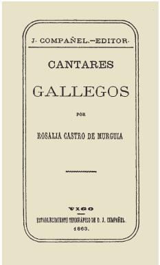 Portada de Cantares Gallegos 1863