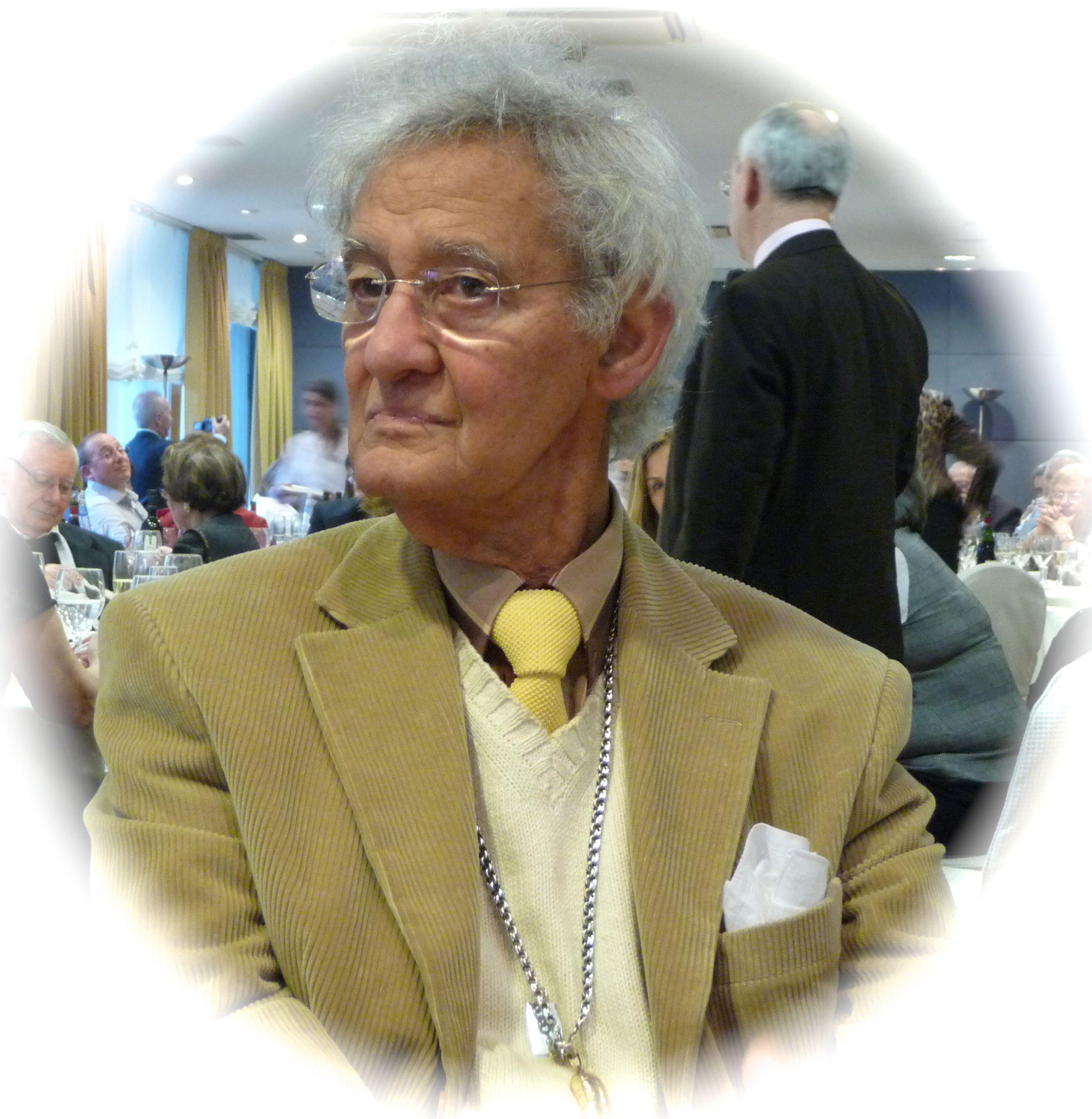 Fotografía de Felipe Criado nunha xubilación de colegas do instituto no 2008 (foto de Fidelina Seco)