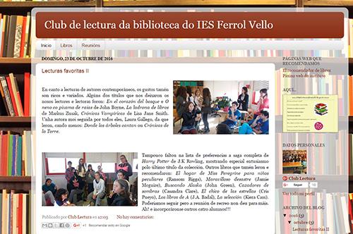 Club de lectura da biblioteca do IES Ferrol Vello