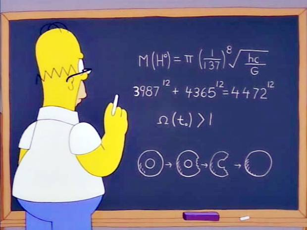 Homer calculando