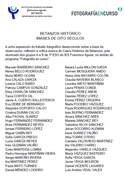 participantes Betanzos histórico