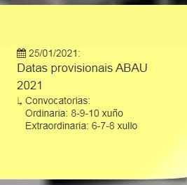 Datas ABAU 2021