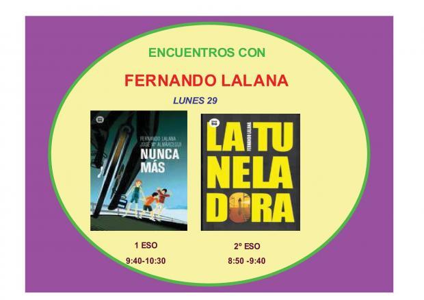 Encuentros con el escritor Fernando Lalana