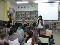 Presentación na Biblioteca do servizo de Mediación Educativa de Ribeira