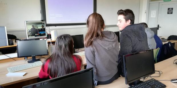 Videoconferencia coa Newburgh Free Academy