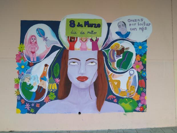 Mural sobre a muller