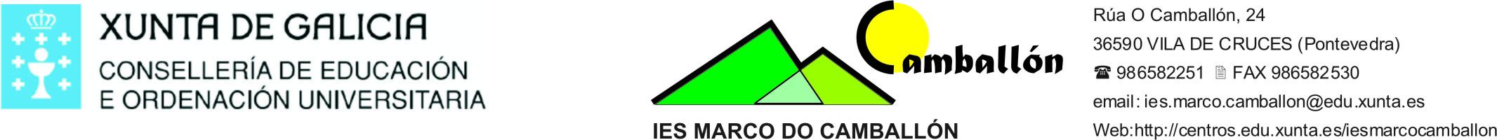 Logo do IES Marco de Camballón