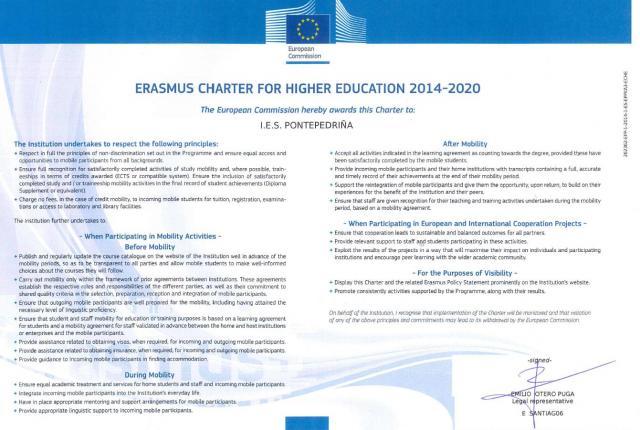 Carta Erasmus // Erasmus Charter