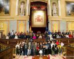 Visita do alumnado ao Congreso en Madrid