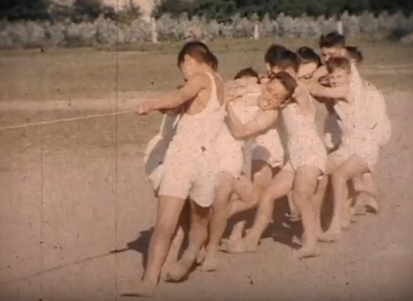 Foto antiga de deportes