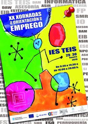 Cartaz das XX Xornadas de Orientación ao emprego