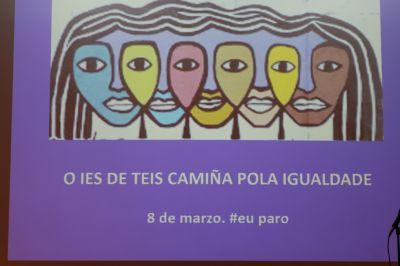 Alumnas do IES de Teis no día da muller e nena na ciencia
