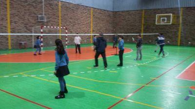 Fotos das actividades deportivas de acollida no IES de Teis