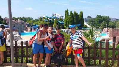 Alumnado na Aquapark