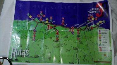 Mapa das rutas