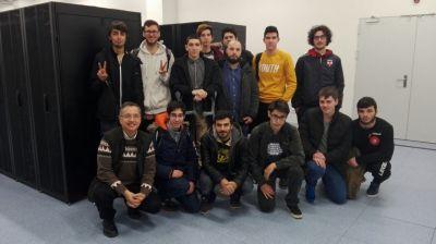 Alumnado no CPD de do Álvaro Cunaqueiro
