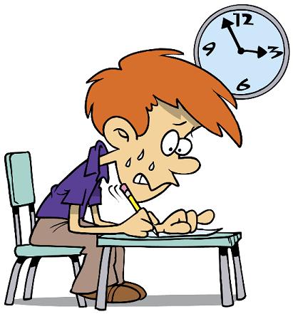 Resultado de imagen de imagenes de dibujos nerviosos pensando en examen