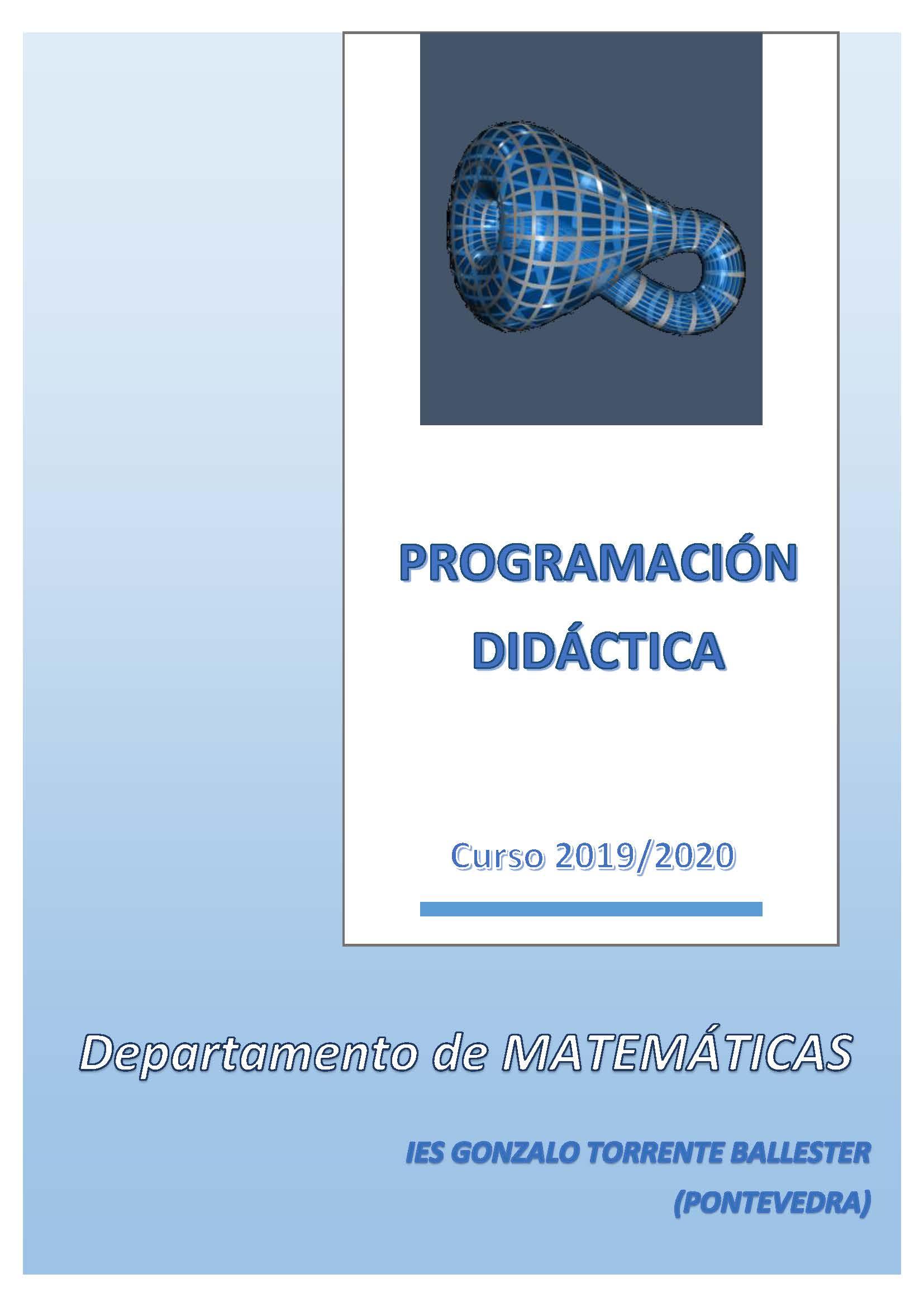 Programación Didáctica Matemáticas (2019/2020)