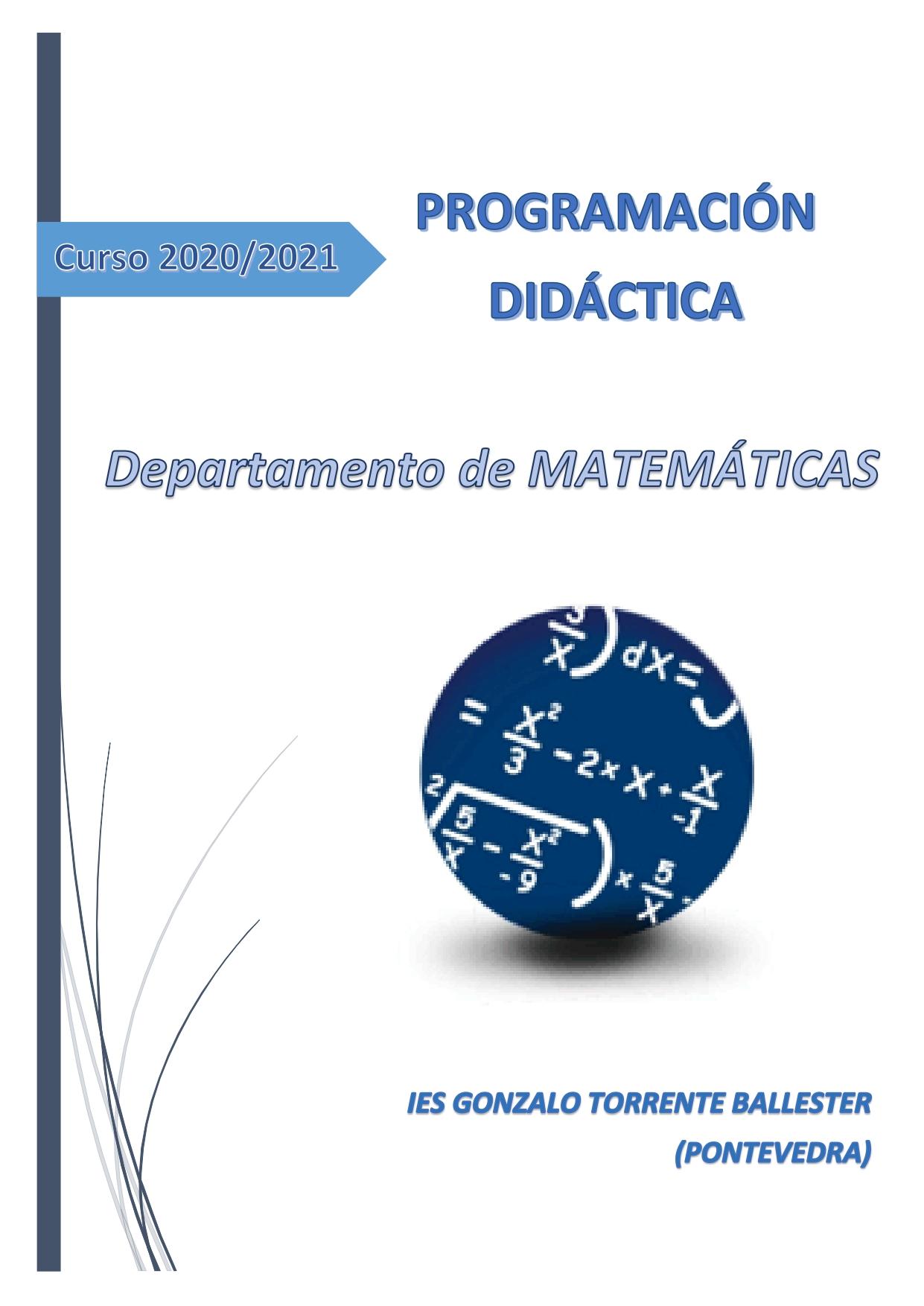 Programación Didáctica Matemáticas (2020/2021)
