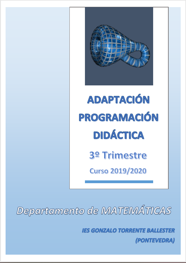 Adaptación Programación Didáctica Departamento Matemáticas