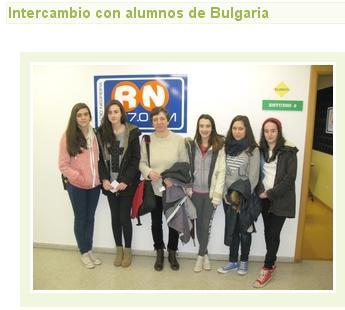 Intercambio con alumnado de Bulgaria